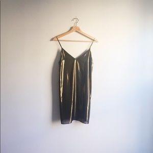 Aritzia Gold/Bronze Metallic Dress